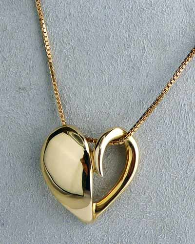14K Gold Heart Pendant by Pasdera