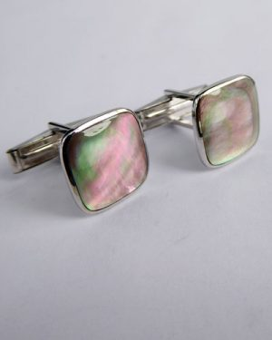 14K Mother of Pearl Cuff Links