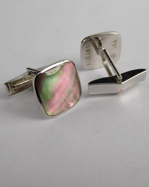 14K Mother of Pearl Cuff Links side
