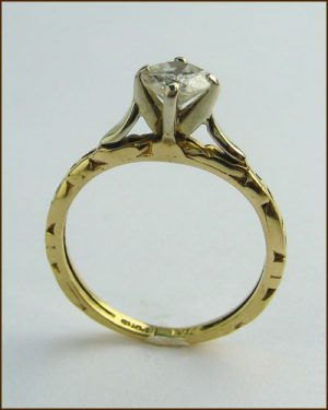 14k .5 ct. Diamond Solitaire Ring 880-4248 side
