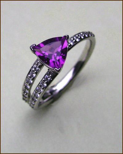 14k Amethyst and Diamond Ring 200-1884