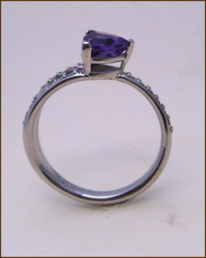 14k Amethyst and Diamond Ring 200-1884 side