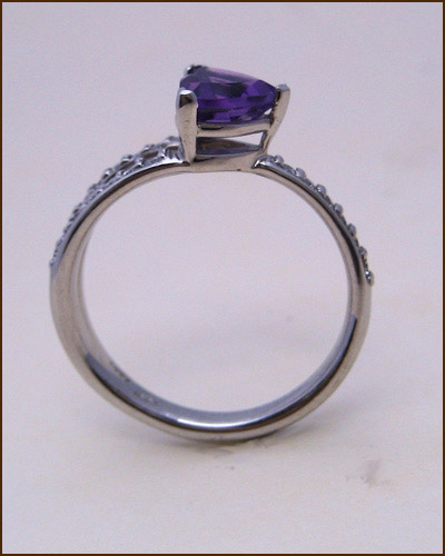 14k Amethyst and Diamond Ring 200-1884 side