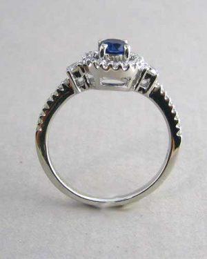 14k Blue Sapphire & Diamond Ring 200-2238 side