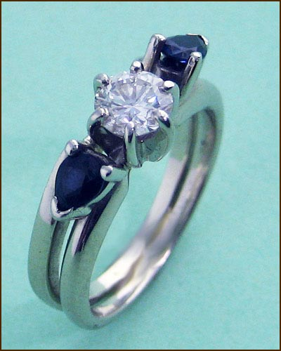 14k Diamond & Sapphire Ring 880-2756