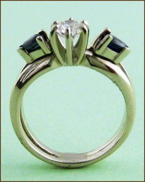 14k Diamond & Sapphire Ring 880-2756 side