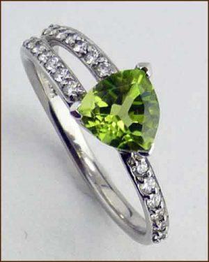 14k Peridot and Diamond Ring 200-1885