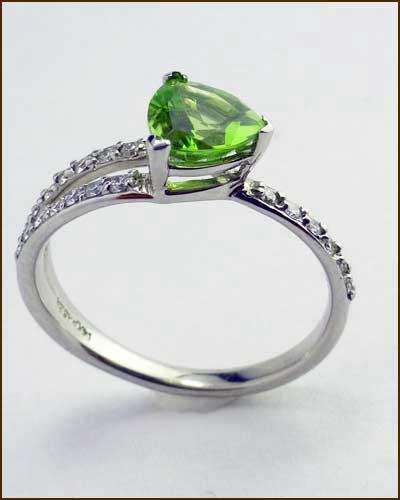 14k Peridot and Diamond Ring 200-1885 side