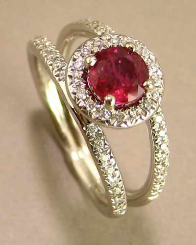 14k Ruby and Diamond Ring 200-2239