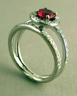 14k Ruby and Diamond Ring 200-2239 side