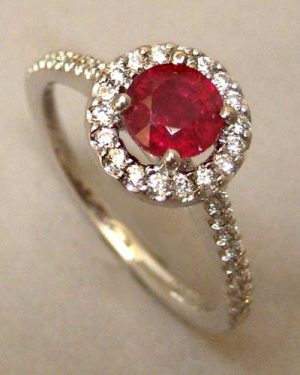 14k Ruby and Diamond Ring large