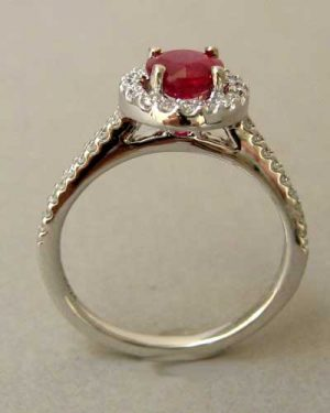 14k Ruby and Diamond Ring side