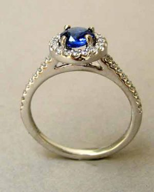 14k Sapphire and Diamond Ring 200-2242 side