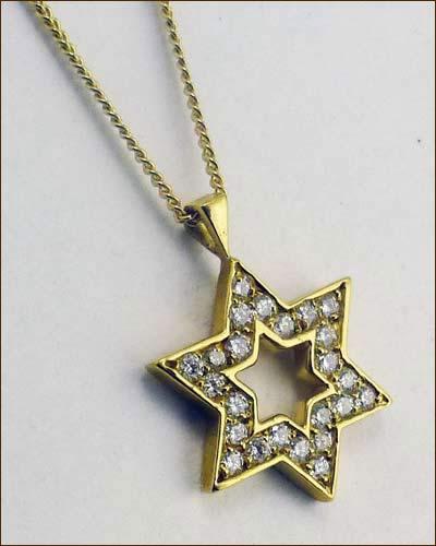 18K and Diamond Star of David side