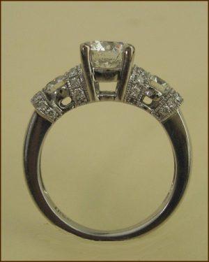 18k Emphasis Engagement Ring side