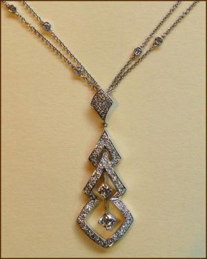 18k Enticing 2.50 ct. Necklace 894-488