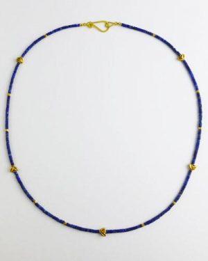 18k Gold Lapis Lazuli Necklace B1617