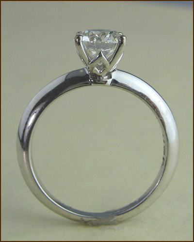 18k Insignia 1.18 ct. Solitaire Ring side