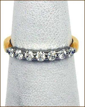 18k/Plat. 7 Diamond 3/4 ct. Band