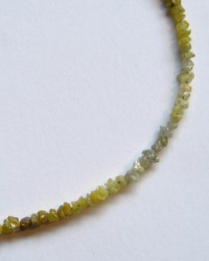 18k Rough Diamond Necklace 886-7286 detail