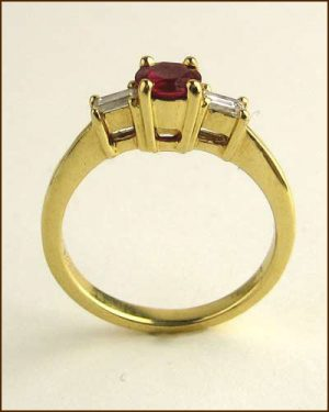 18k Ruby and Diamond Ring 880-2569 side