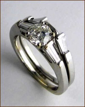 18k Set with 1.30 ct. Diamonds