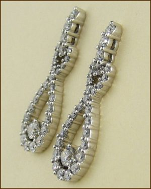 18k Stunning Diamond Earrings 893-930 side
