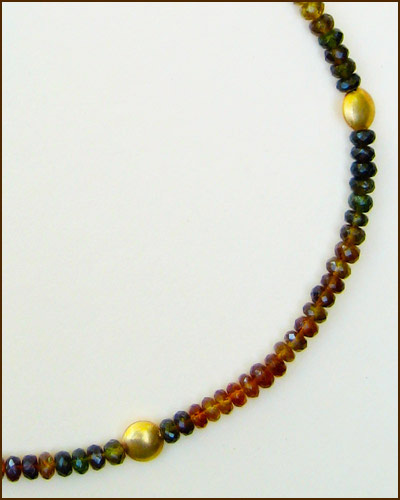 18k Tourmaline Necklace 886-6564 detail