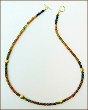 18k Tourmaline Necklace 886-6564