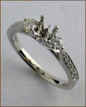 18k Truly Bridal Leaf Setting 891-792