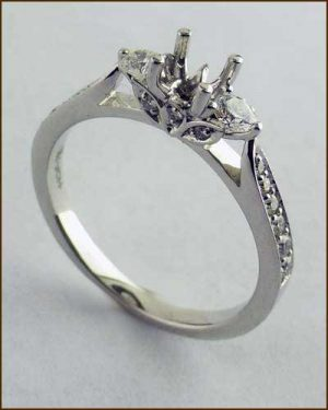 18k Truly Bridal Leaf Setting 891-792 side