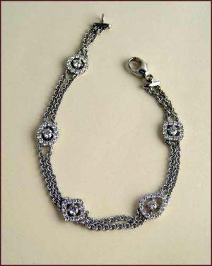 18k Whimsical Multi Shape Bracelet 894-472 side
