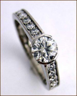 18k White Gold Favored Ring