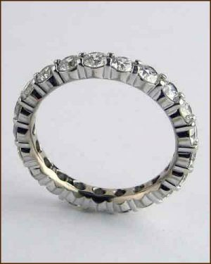 18k White Multiplicity Eternity Band side