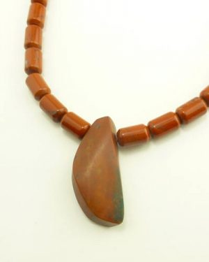 19in Red Jasper Necklace 810-1017 detail
