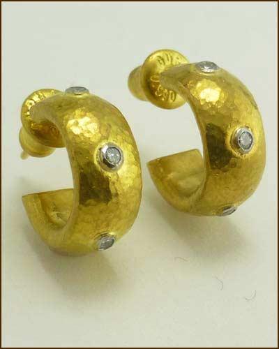 24k Diamond Constellation Earrings