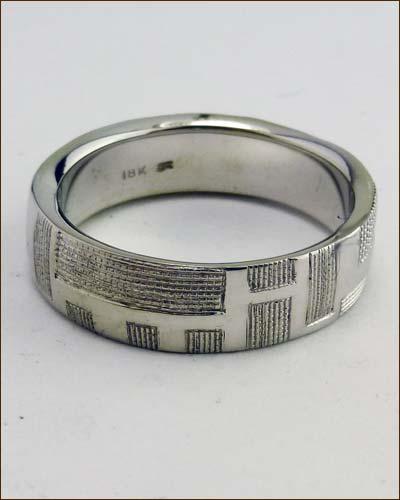 Brian Sholdt 18k Patterned Ring