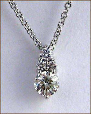 40ct Diamond Triplicity Pendant