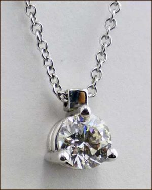 .65 ct. Solitaire Pendant 894-489 side