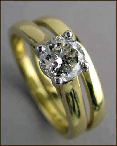 .70 ct Octagon Diamond Ring Set