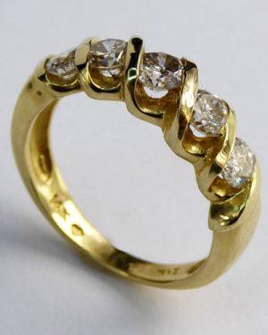 3/4 ct. 5 Stone Diamond Ring 880-4251 side