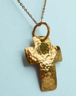 Big Sur Design 24k Cross Pendant