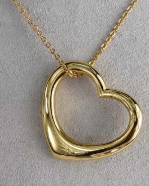 Breuning 14K Open Heart Pendant