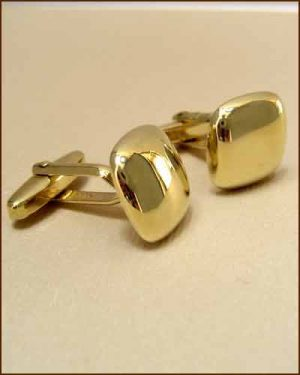 Breuning 14k Gold Cuff Links