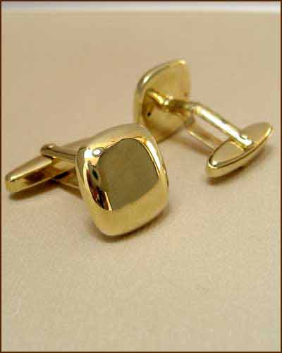 Breuning 14k Gold Cuff Links side