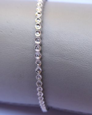 Diamond Eternity Bangle side
