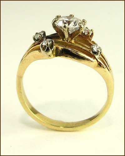 Estate 5 Diamond Unique Ring 880-4327 side