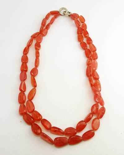 Gem Quality Rhodochrosite Necklace