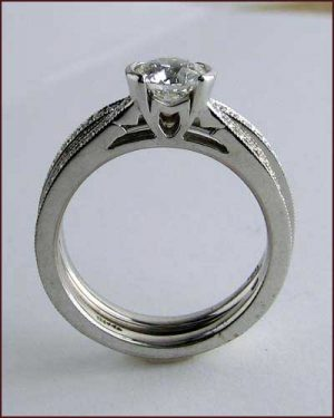 Identity Millegrain Wedding Set 891-502 side