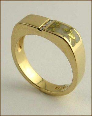 Kabana 14k Gold in Quartz Mens Ring 200-1842